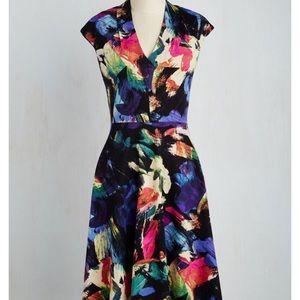 ModCloth London Times Pain Splatter Midi Dress